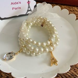 Jewelry - Bracelet Paris Tower with faux pearls